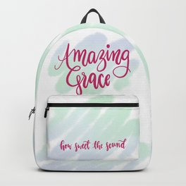 Amazing grace - pink brush script Backpack
