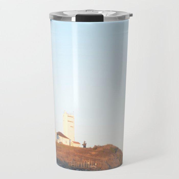 Sunset at Lighthouse in East Hampton Travel Mug
