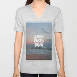 Good Vibes Only Beach and Sunset Unisex V-Neck