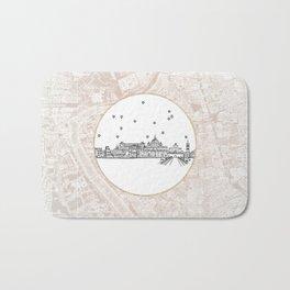 Roma (Rome), Italy, Europe City Skyline Illustration Drawing Bath Mat