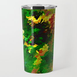Emerald Forms Abstract Travel Mug