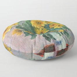 Claude Monet Bouquet Of Sunflowers 1881 Floor Pillow