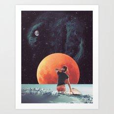 Cloud Surfing Art Print