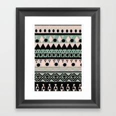 PASTEL NORDIC TRIBAL  Framed Art Print