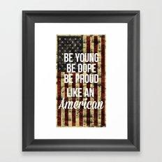 American Framed Art Print