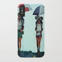 hiking iPhone & iPod Cases featuring Rain Hiking by Fallon Chase