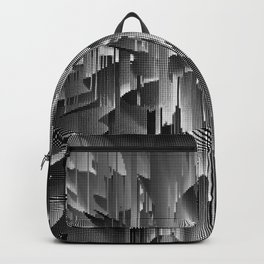 Flowers Exploding with Dots in Black and White Backpack
