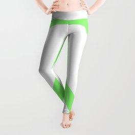Peace (Light Green & White) Leggings