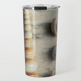 Shells on Beach wood. Travel Mug