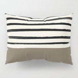 Cappuccino x Stripes Pillow Sham