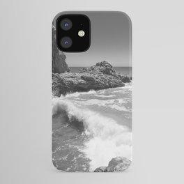 Waves crash along Rancho Palos Verdes coastline iPhone Case