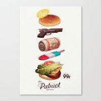 ed sheeran Canvas Prints featuring The Patriot by Sachin Teng