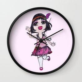 Chibi Flapper Wall Clock