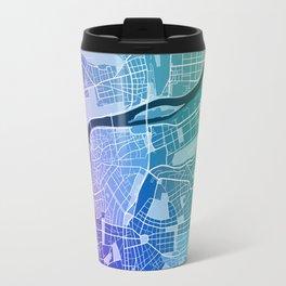 Prague Map (Colour Gradient) Travel Mug