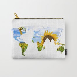 World of Sunflowers Carry-All Pouch