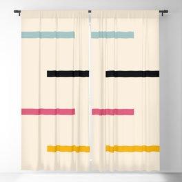Abstract Minimal Retro Stripes Acro Blackout Curtain