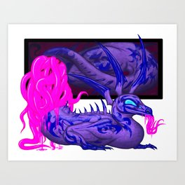 The Living Picture #2 - Tentacle Psychizard Art Print