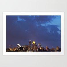 Minneapolis Skyline - U of M View.  Art Print