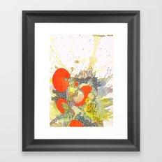 Orange Pathway Framed Art Print