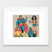 heroes Framed Art Prints featuring Heroes by Saint Lepus