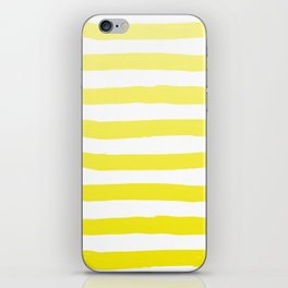 Sun Yellow Handdrawn horizontal Beach Stripes - Mix and Match with Simplicity of Life iPhone Skin