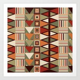Savanna drums Art Print