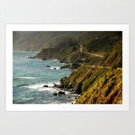 Cabrillo Hwy, California Coastline Art Print