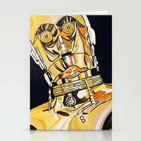 c3po Stationery Cards featuring C3PO by Laura-A