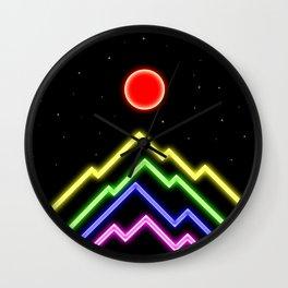 Neon Landscape Wall Clock