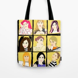 Knock Knock! Yellow Version Tote Bag