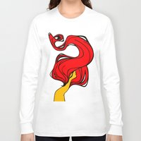 redhead Long Sleeve T-shirts featuring Redhead by Moonworkshop