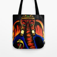 ganesh Tote Bags featuring Ganesh by Brian J Farrell