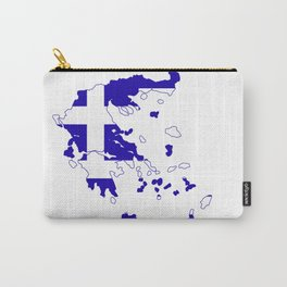 Greece Map Flag Carry-All Pouch