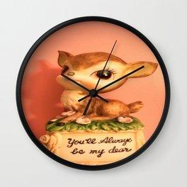 darling deer Wall Clock