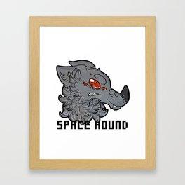 Space Hound Framed Art Print