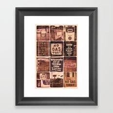 No Gas Framed Art Print