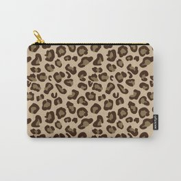 Leopard-Beige+Brown Carry-All Pouch