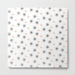 Spiders & Webs-White Orange Metal Print
