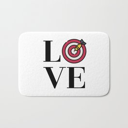 Love Darts Bath Mat