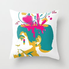 Liquid thoughts:Boy Throw Pillow
