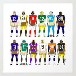 Football Butts Art Print