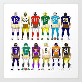 Football Butts Art Print