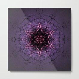 Ancient Stargate Mandala Metal Print