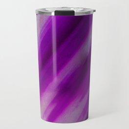 Purple Neon Geode Raw Crystal Stone Agate Amethyst Fine Art Print Travel Mug