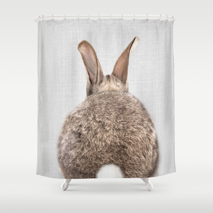 Rabbit Tail - Colorful Shower Curtain