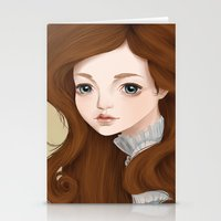 doll Stationery Cards featuring Doll by Lily Art