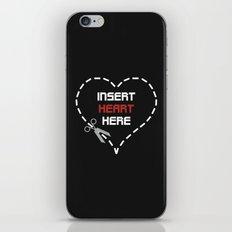 Insert Heart Here iPhone & iPod Skin