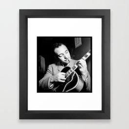 Django Reinhardt at the Aquarium Jazz Club Framed Art Print