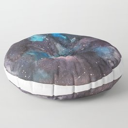 Galaxy round shape with stars Floor Pillow