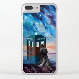 TARDIS DOCTOR WHO PAINT Clear iPhone Case